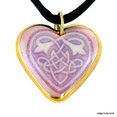 Back in stock in time for Valentine's Day, only 3 available, order now! Celtic Knot Heart pendant Valentine's Day gift by IndigoTurtleArt, $25.00