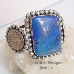 Schaef Designs Lapis Lazuli Walking Liberty Quarter Rosette Cuff Bracelet | New Mexico