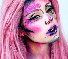 WEBSTA @ mirandahedman - Only one day left to vote for the NYX Nordic Face Awards! Don't forget to vote for me if you want to see me in the finale! Link to the page is in my bio! Wig from @wigisfashion #graffiti #nyxcosmetics