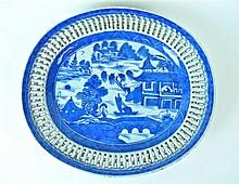 Chinese Canton Porcelain Platter, 19th C. WWW.JJAMESAUCTIONS.COM