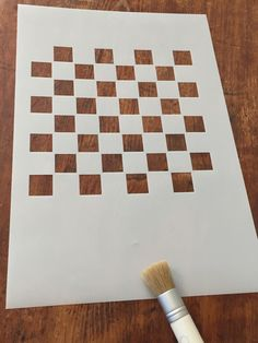 Stencil, Create Your Own Checker Chess Board, Heavy Duty Plastic Design by HeySweetly on Etsy