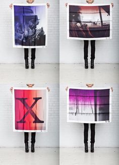 Scarves made from polaroid camera pictures. by frenchman phillipe roucou.