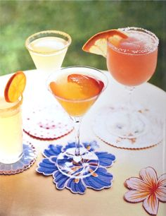 Delicious summer drinks