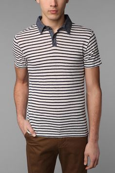 UrbanOutfitters.com > Nuco Striped Polo Shirt