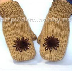 Knitting luvas na ponta dos dedos. Tricô - Dicas e lições, gráficos e uma descrição de