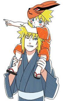 Little Naruto and Minato