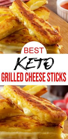EASY keto grilled cheese recipe for BEST cheesy sticks. Easy 90 microwave keto bread food idea w/ grilled cheese recipe. BEST low carb 90 second bread recipe. Great keto dinner, k Grilled Cheese Sticks, Keto Grilled Cheese, Grilled Cheese Recipes Easy, Cheese Sticks Recipe, Grilled Bread, Avocado Recipes, Ketogenic Recipes, Low Carb Recipes, Diet Recipes