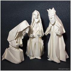 WIP: Nativity - The Magi. Aquarius watercolor paper 80lbs. by Joseph Wu Origami