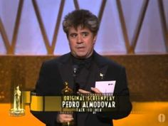 "Pedro Almodóvar winning the Oscar® for Writing‬‬‬‬ ""Talk to Her"""