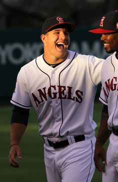 Gorgeous smile, loving the jokes, mike trout is the only person I need