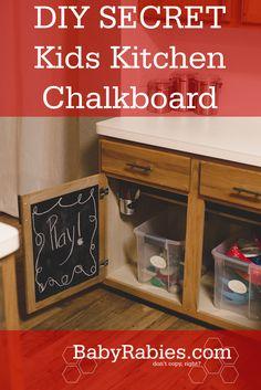 DIY:  Secret Kids Kitchen Chalkboard.