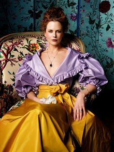 Wow- Nicole Kidman looks totally like a John Singer Sargent portrait here (i'm sure they planned that) and the color is totally gorgeous, everything about this is gorgeous!