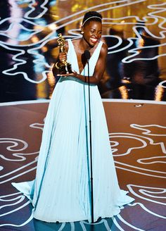 Lupita's stunning in a blue Oscar dress