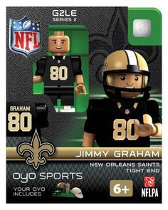 #80 Jimmy Graham New Orleans Saints Tight End-Limited Edition OYO minifigure