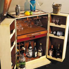 Vintage Styled Bar - a Bar in a Trunk - Allissias Attic  &  Vintage French Style - 1