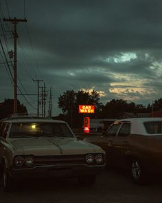 Mourning and Evening Series — Michael McCluskey Night Aesthetic, Retro Aesthetic, Nostalgia, Googie, Vintage Vibes, Car Photography, Small Towns, Landscape, Pictures