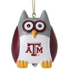 "Texas A&M Aggies 2.5"" Owl Ornament - $9.99"