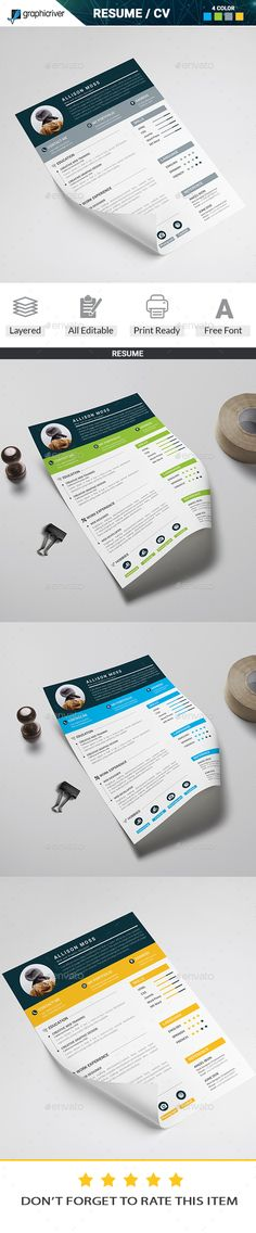Word Resume Template - Editable Template - Free Cover Letter - editable resume template