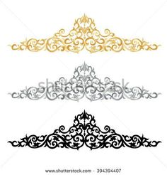 Corner gold vintage baroque frame scroll ornament engraving, Border floral retro pattern antique style acanthus foliage, Swirl decorative corner design element filigree calligraphy