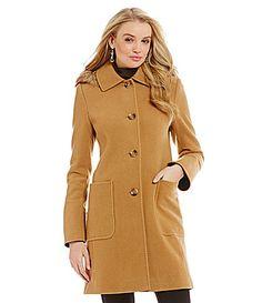 Preston and York FauxFurTrimmed Hooded WoolBlend Coat #Dillards