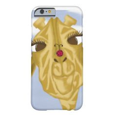 Sherbet And Her Visitor iPhone 6 Case. Created by #OneArtsyMomma  $38.95 #giraffeiphone6case  #ladybug #iPhone6case