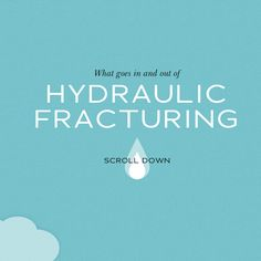 """What goes in and out of HYDRAULIC FRACTURING."" Part info graphic, part  storytelling, very effective engagement. -Linda Dong, Interaction and Industrial Designer."
