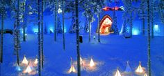 Celebrating New Years Eve at Santapark in Lapland...