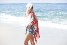 Free People Crochet Top + Levis Denim - Mckenna Bleu