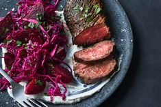 Wine Recipes, Cooking Recipes, Apple Recipes, Beef Recipes, Cabbage Steaks, Quick Weeknight Dinners, Weeknight Recipes, Hanger Steak