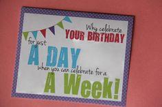 Sometimes Creative: Week Long Birthday Celebration