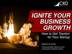 "Stephen N. Davis ""Partnering With Clients to Drive Sustainable Profitable Growth"" IGNITE YOUR BUSINESS GROWTH How to Get T..."
