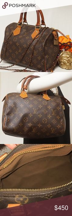 "AUTHENTIC GREAT CONDITION LOUIS VUITTON SPEEDY 25. Louise Vuitton Speedy 25. Preloved in very good condition. Slight color change on handles. Collectors item.  Dimensions: 10""x6""x8"" Pet smoke free home.   AUTHENTIC ❣️FAST SHIPPING!❣️MAKE AN OFFER  Please see my other listings🌺💞😍 Louis Vuitton Bags Satchels"