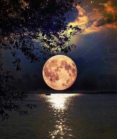 Full moon over Singapore