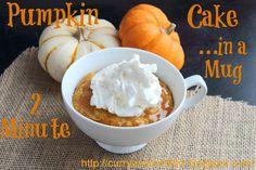 2 Minute Pumpkin Caramel Cake in a Mug (Twice as Nice Tuesday) Recipe on Yummly