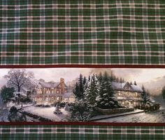 "By Thomas Kinkade ""Christmas Double Border Fabric"""