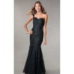 Modern One-shouler Mermaid Style Lace and Tulle Gown with Beading