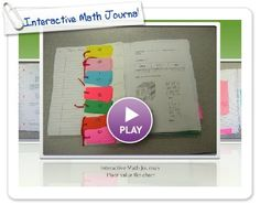 Great ideas for interactive math journal
