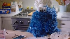 Siri Helps Cookie Monster Bake Cookies in a New iPhone 6s Commercial