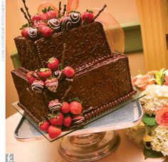 Chocolate Strawberry Grooms Cakes