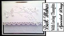 Just Because words DARICE embossing folders border set best wishes 1218-85 3PK