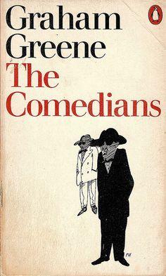 Graham Greene, The Comedians. Vintage Penguin, Cover art by Paul Hogarth. Film Books, Paperback Books, Books To Read, My Books, Vintage Penguin, Graham Greene, Adventure Novels, Penguin Classics, Penguin Books
