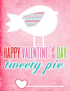 LOTS of cute valentine's day printables...cards, gift tags,cupcake toppers and more.