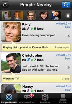 Loopt Mix - Viewing Friends Nearby