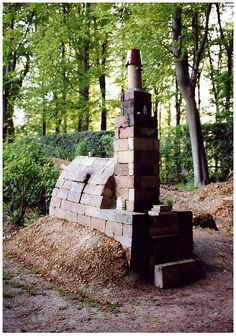 pottery wood fire, Anagama kilns