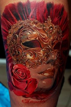 The detail is so amazing it's hard to believe this is a tattoo Tattoo Artist - Dmitriy Samohin - mask tattoo
