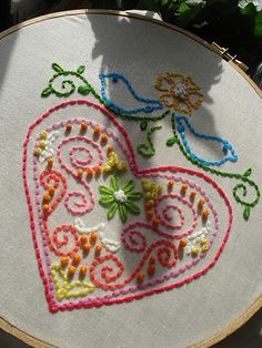 "Free Embroidery  Patterns - Would be a nice ""sampler"" pattern to teach/practice with"