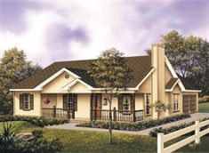House Plan 87330 - Country , House Plan with 1501 Sq Ft, 3 Bed, 2 Bath, 2 Car Garage House Plans And More, New House Plans, Dream House Plans, Small House Plans, House Floor Plans, Ranch House Plans, Cottage House Plans, Cottage Homes, Country Style House Plans