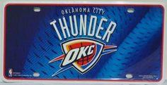Oklahoma City Thunder Novelty Metal License Plate