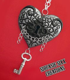 The Key to my Heart Pendant 2. Lock and by SiouxsieSixxCreation