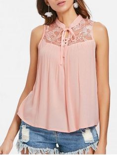 Fashion Clothing Site with greatest number of Latest casual style Dresses as well as other categories such as men, kids, swimwear at a affordable price. Tie Neck Blouse, Sleeveless Blouse, Clothing Sites, Collar Styles, Blouse Online, Embroidered Blouse, Plus Size Tops, Knit Dress, Blouse Designs